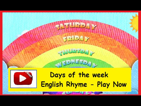 Days of the Week  - English Nursery Rhymes HD for Kids