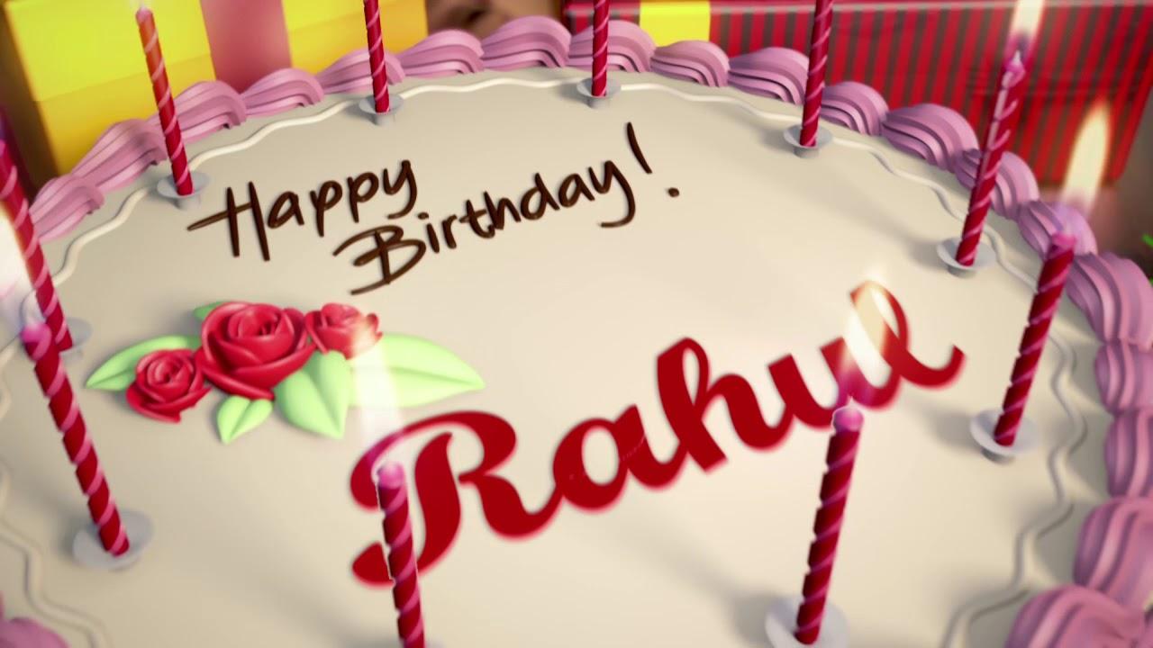 Happy Birthday Rahul Youtube