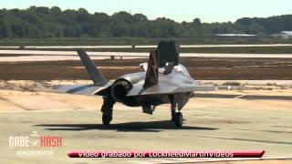 PRIMER DESPEGUE VERTICAL DE AVIÓN (F-35B) 25 DE MAYO 2013