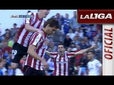 Gol de Fernando Llorente (1-1) en el Real Zaragoza - Athletic Club - HD