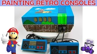 Painting Retro Video Game Consoles for the Long Island Retro Gaming Expo
