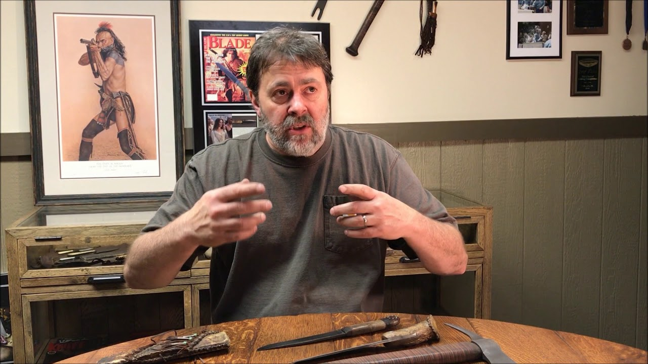 """Master Bladesmith Daniel Winkler  discusses his work for """"Last of the Mohicans"""""""