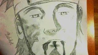 Asuma Sarutobi pencil drawing (BakArt)