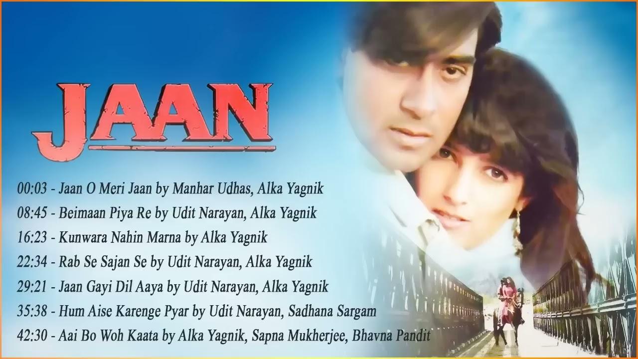 Download Jaan Movie Full Songs (1996)   Bollywood Hits Songs   Ajay Devgan, Twinkle Khanna, Anand Milind