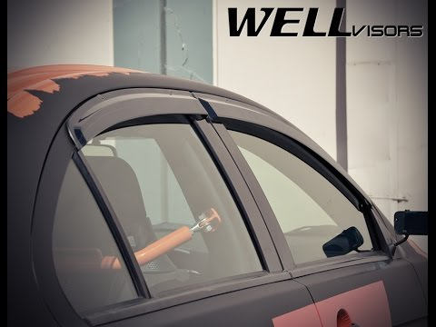 Used Mitsubishi Lancer >> WELLvisors side window deflector vent visor Installation ...