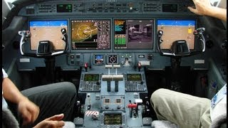 Gulfstream G550 final approach Teterboro, NJ