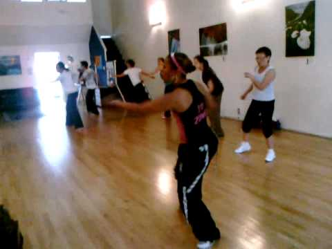 Zumba Dance at Menlo Pilates with Regine Saintil-Johnson