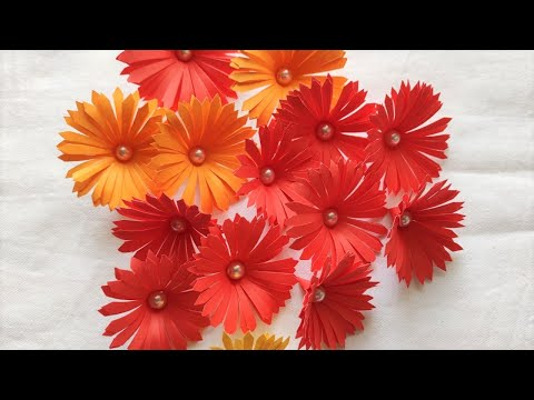 DIY-Paper craft flowers/ Making Paper Flowers Step by Step/Diy room decor idea # 8
