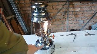 ч.1/2 Butterfly-828/350cp. Керосиновая калильная лампа. Ремонт насоса, размер стекла.