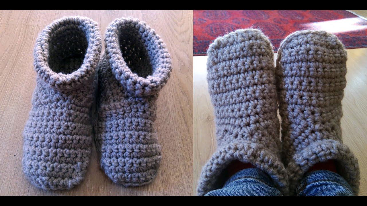Crochet Slipper Boots Youtube