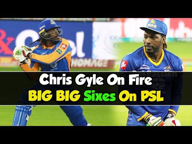 Chris Gyle On Fire BIG BIG Sixes On PSL | Karachi Kings VS Islamabad United | HBL PSL