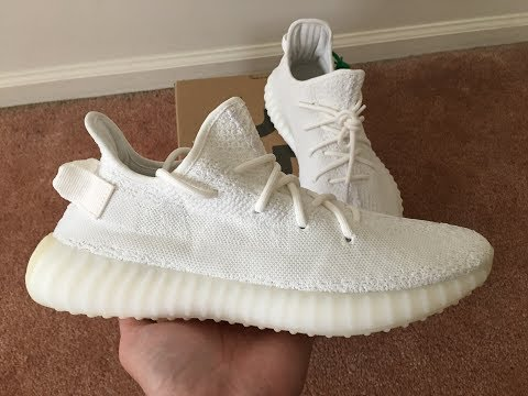wholesale dealer 980ae 43bdc Adidas Yeezy Boost 350 V2 Cream White Unboxing @stockx - YouTube