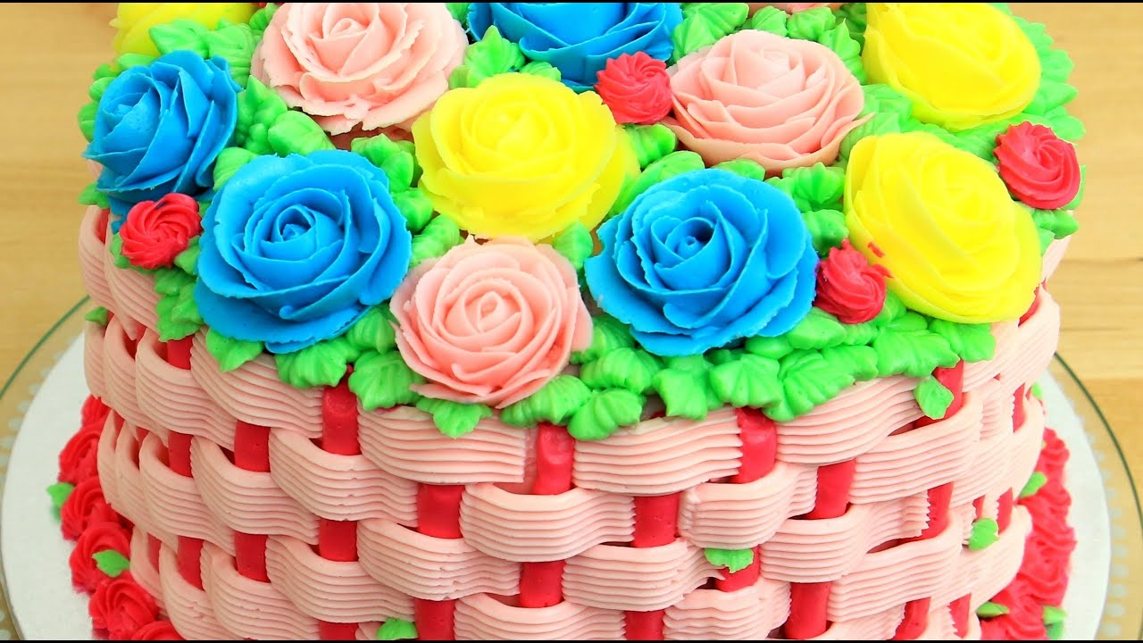 Flower Cake Decorating With Piping Tips By Cakes Stepbystep Youtube
