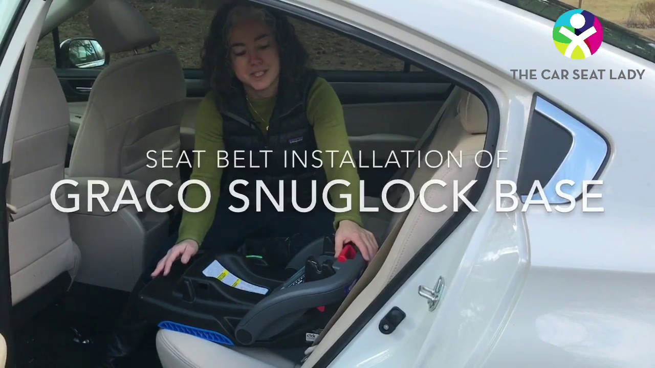 Graco Snugride Snuglock Base Installation With Seat Belt Youtube