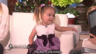 [Vietsub] Brielle 3 tuổi cực kỳ thông minh và dễ thương trên Ellen Show: Bảng tuần hoàn hóa học