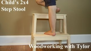 2x4 Step Stool - Summers Woodworking 2x4 contest entry
