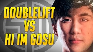hi im gosu vs doublelift who is the ultimate mechanical god