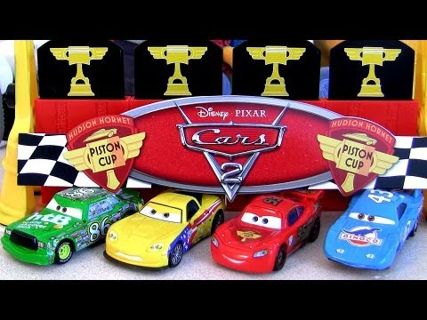 Finish Line Frenzy playset TRU Toysrus Exclusive Gold Lightning Mcqueen edition Disney Pixar