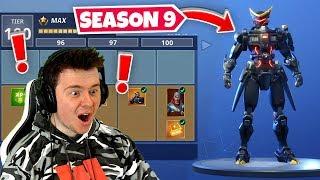 new season 9 battle pass 100 unlocked