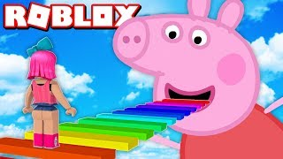 FUJA DA PEPPA PIG NO ROBLOX !!! (ESCAPE PEPPA PIG OBBY)