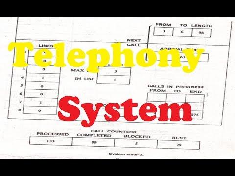 Telephony System  Telephony System Problem  In Simulation And Modeling [Bangla Tutorial 2017]