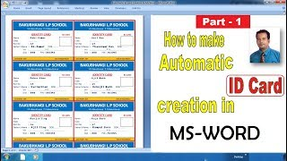 Automatic ID card creation in Microsoft word   Part-1
