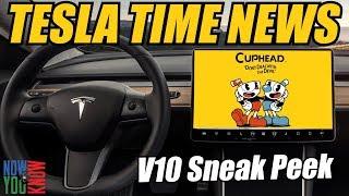 Tesla Time News - Tesla Version 10 Sneak Peak!