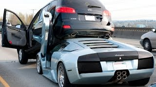 Идиоты за рулем ! дорогие машины !