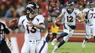 Trevor Siemian vs Paxton Lynch - vs 49ers (Preseason Week 2) | 2017-18 NFL Highlights HD