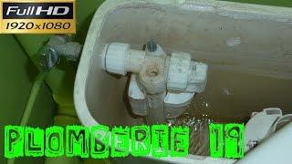 Plomberie19-Le remplacement du robinet flotteur d'une chasse d'eau d'un WC