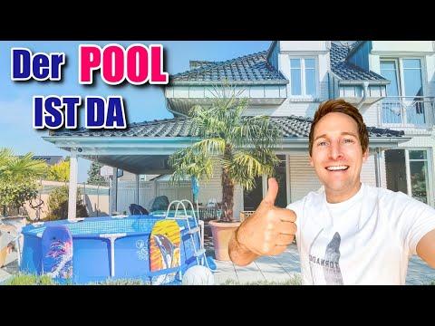 NEUER Pool ist da 🏝 | BESTER Pool für den Garten | Wärmepumpe und sauberes Wasser | Justus