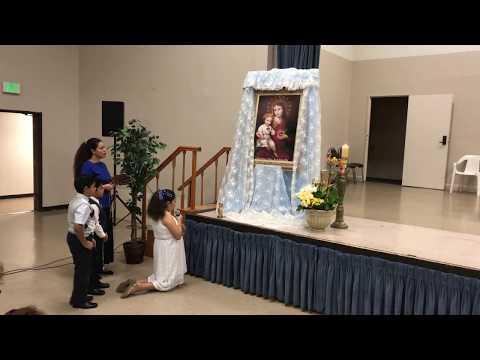 Rosario Familia visitada  por el Apostolado  de María.Todo Con Café Luna's Drone