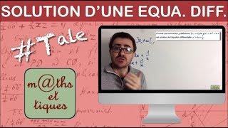 Vérifier si une fonction est solution d'une équation différentielle - Terminale