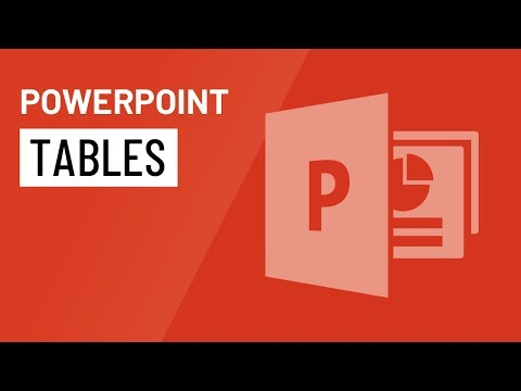 PowerPoint 2016: Tables