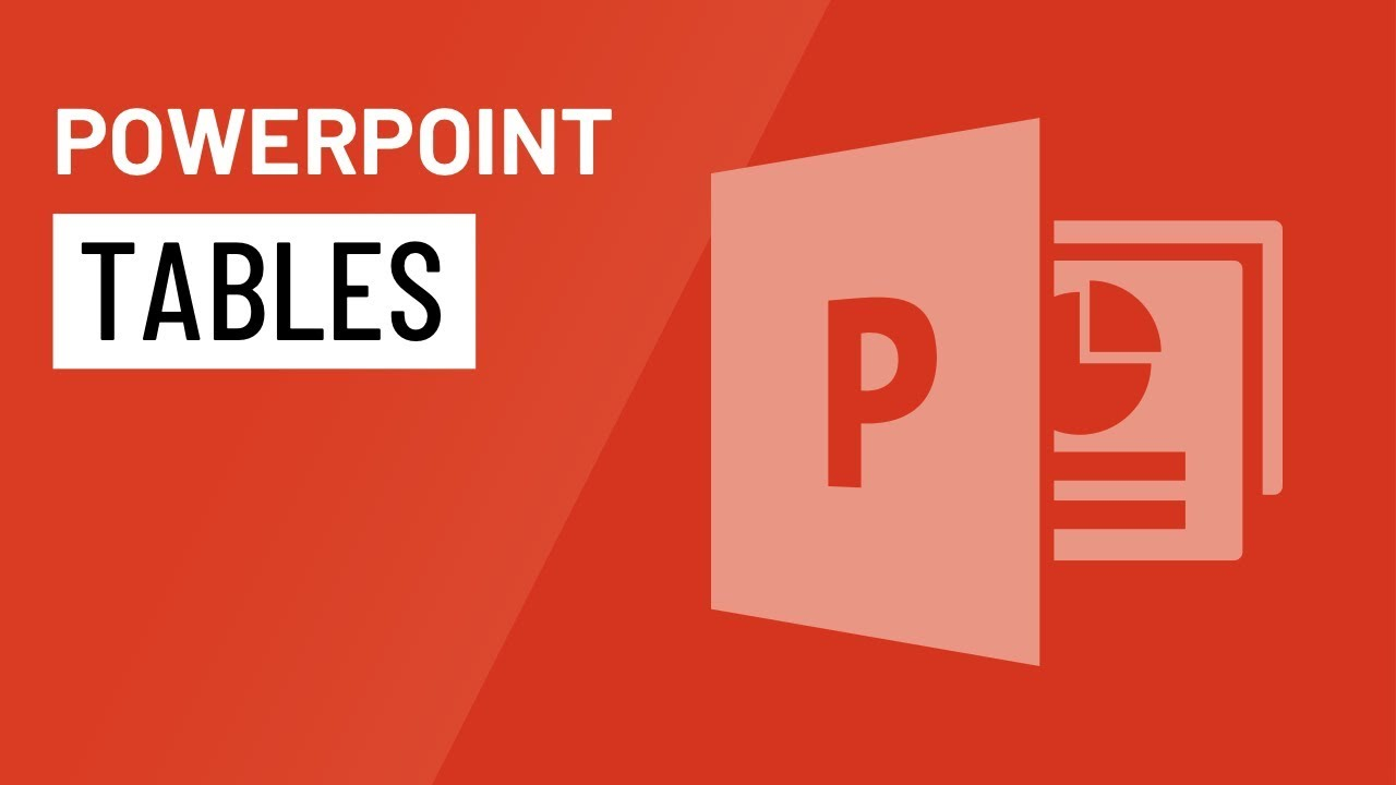 PowerPoint: Tables