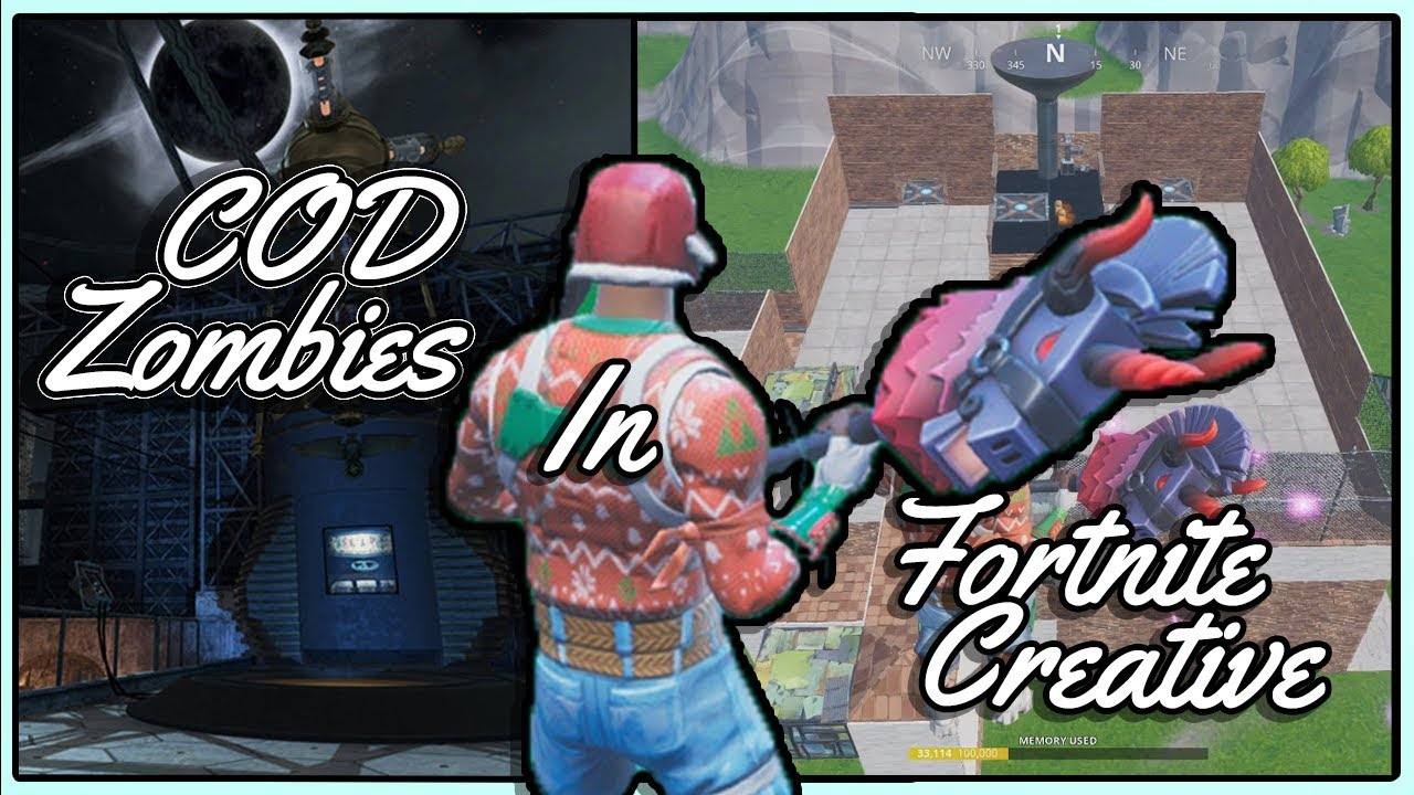 Playing Cod Zombies In Fortnite Creative Mode Custom Map