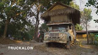 The famous Truckalow at Suan Sati Yoga Retreat Center Chiang Mai