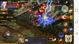 スマホ MMO RPG 【ARCANE-アーケイン-】攻城戦プレイ 音がありません。