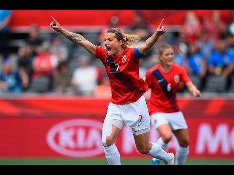 Noruega (4) vs (0) Tailandia    Mundial Femenino Canadá 2015