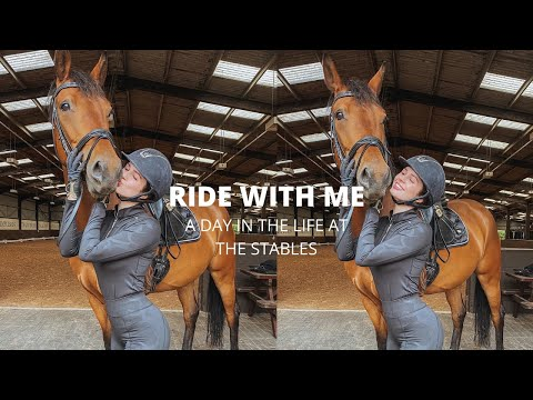 RIDE WITH ME! Dressage, Jumping And Tackless In One Day...