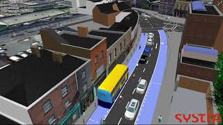 Rathmines Bus Connects in VISSIM