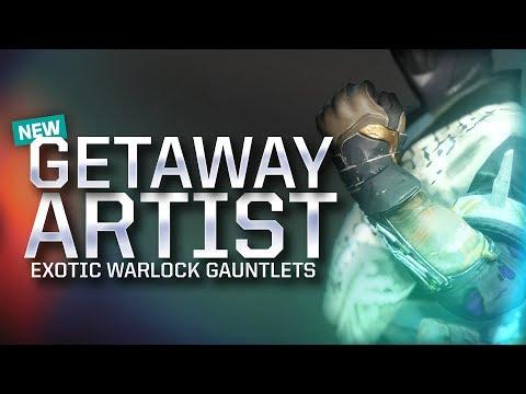Destiny 2: NEW WARLOCK EXOTIC REVIEW! (GETAWAY ARTIST)