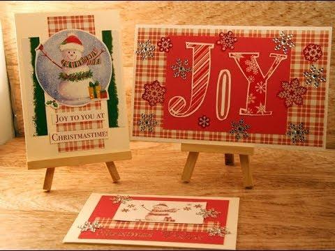 Recycle And Use Your Stash Christmas Card Wk 68
