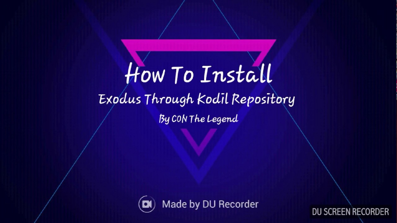 How to install Exodus Through Kodil Repository