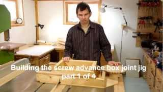 Building the box joint jig part 1 of 4