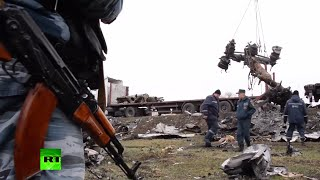 RAW: Recovery of MH17 flight debris underway in E. Ukraine