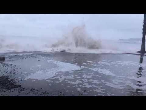 Capistrano Beach Destructive Waves 1.18.19