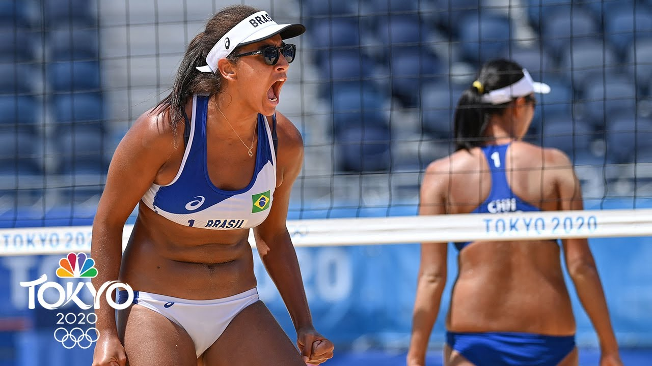 Download Brazil make quick work of China, on to beach volleyball quarterfinals   Tokyo Olympics   NBC Sports