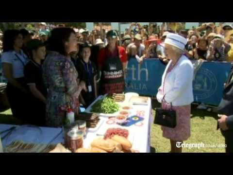 Queen goes to to Australian barbecue on final day of tour
