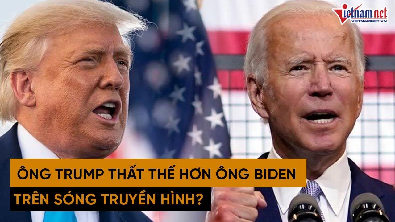 Bầu cử tổng thống Mỹ 2020: Lý do Donald Trump thất thế so với đối thủ Biden trên sóng truyền hình